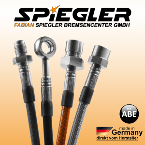 Stahlflex Bremsleitung für: Audi 90 89, 89Q, 8A, B3  Baujahr:1988/06-1991/09  Motor:2309 ccm, 125 KW, 170 PS  Typ:2.3 E 20V quattro HSN/TSN:0588|4250588|445
